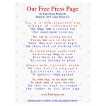 Our Free Press Page, PL3001