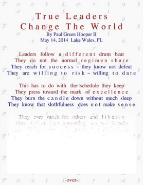 True Leaders Change The World
