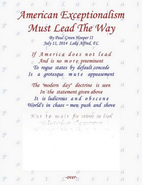 American Exceptionalism, Must Lead The Way