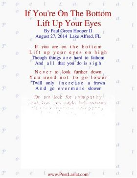 If You're On The Bottom, Lift Up Your Eyes
