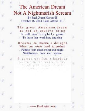 The American Dream, Not A Nightmarish Scream