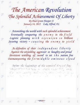 The American Revolution, The Splendid Achievement Of Liberty