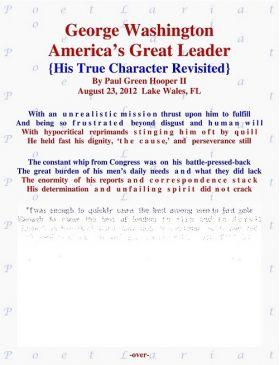 George Washington, America's Great Leader