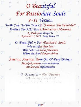 O Beautiful, For Passionate Souls, 9/11 Version