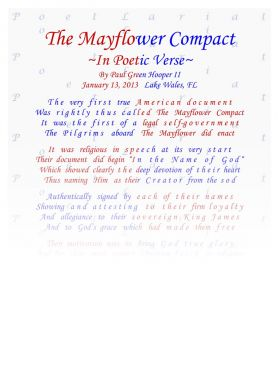 The Mayflower Compact, In Poetic Verse