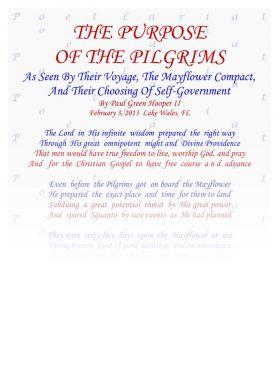 The Purpose Of The Pilgrims