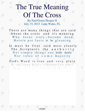 The True Meaning, Of The Cross